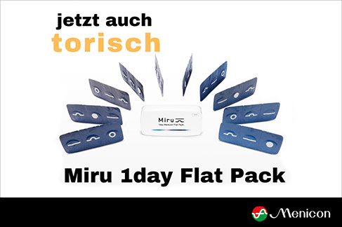 Menicon Miru 1day Flat Pack in torisch