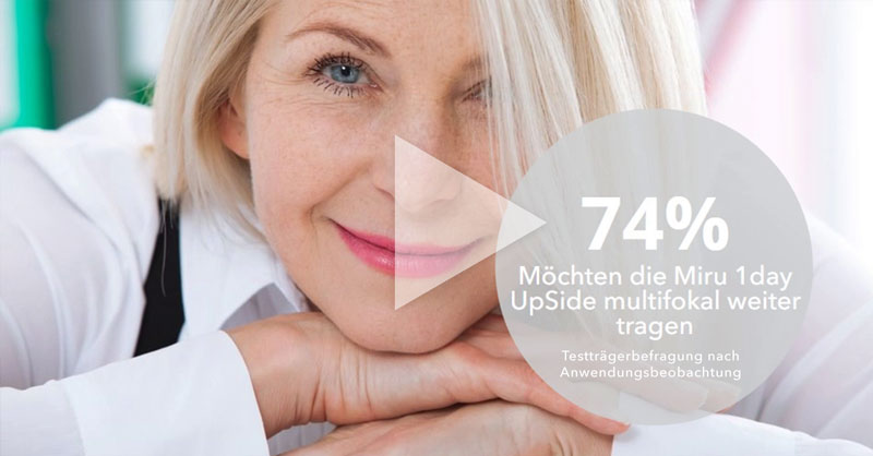 Menicon-News: Video Anwendungsbeobachtung Miru 1day UpSide multifocal